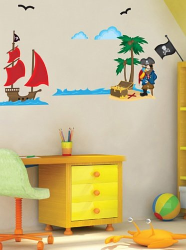 Children's Room Wall Decals - Pirates - by Applique - 1