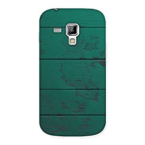 Delighted Green Wood Texture Print Back Case Cover for Galaxy S Duos
