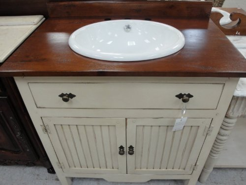 Best Value Solid Wood 35 Wainscot Antique Vanity With
