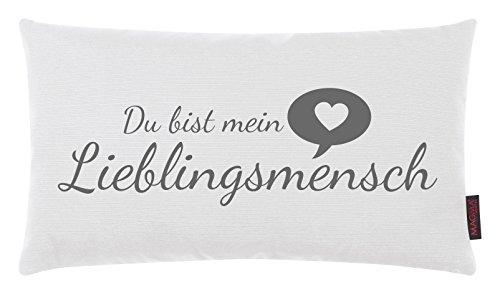 Kissen Lieblingsmensch weiß 30x50cm Made in Germany