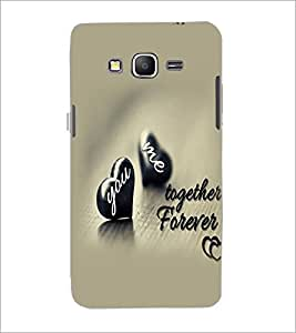 PrintDhaba Hearts and Quote D-2223 Back Case Cover for SAMSUNG GALAXY GRAND PRIME (Multi-Coloured)