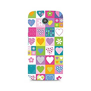 Ebby Abstract Hearts Premium Printed Case For Moto X