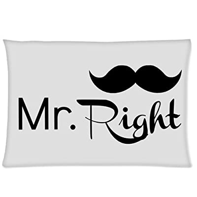 A Couple in Love - Mr. Right Custom Zippered Pillowcase Pillow Cases Cover 20 X 30 Inch (twin sides)