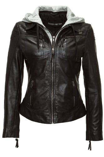 Freaky Nation Damen Lederjacke