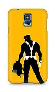 Amez designer printed 3d premium high quality back case cover for Samsung Galaxy S5 (Duke nukem forever sant john back head gun)