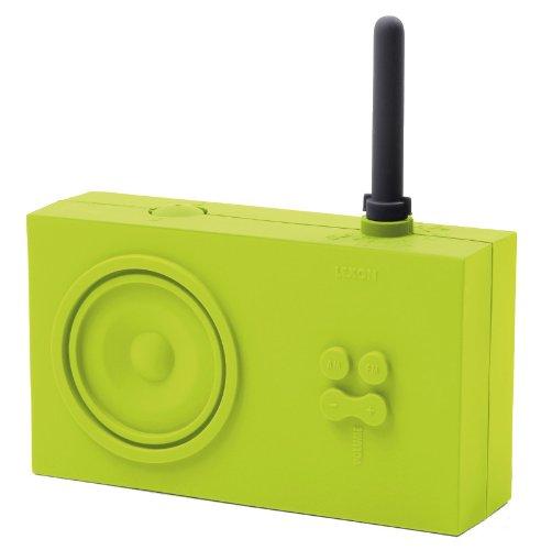 Lexon TYKHO Designradio Gummi von Marc Berthier, versch. Farben Grün