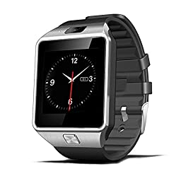 Luxsure® Smartwatch Bluetooth Smart Watch Wrist Wrap Watch Phone Micro SIM Card with Camera Touch Screen for Samsung Galaxy S4/S5/S6, HTC and iPhone 5, iPhone 6/6 PLUS Smartphones(Black)