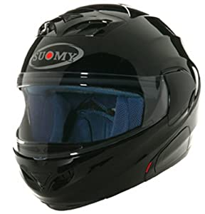 Amazon.com: Suomy D20 Helmet (Plain Black, Medium): Automotive