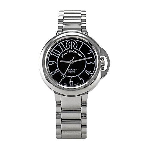 Revue Thommen - 109.01.02 - Cosmo Lifestyle - Montre Femme - Automatique Analogique - Cadran Noir - Bracelet Acier Gris