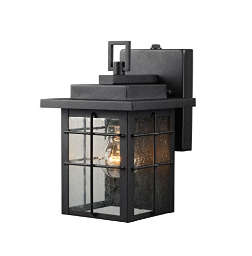 Hardware House 21-2359 Square Lantern w/Photo Cell, Black Finish - One Light (House Hardware compare prices)