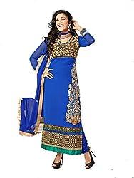 Balaji Fashion Women's net braso long suit -D.NO 1769_Multi-Coloured