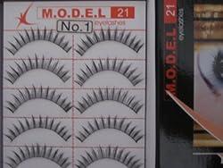 MODEL 21 Lashes Fake False Eyelash Eyelashes 10 Pairs HIGH END #1