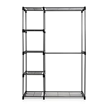 Furinno WS15005 Wayar Double Rod Freestanding Closet, Gray