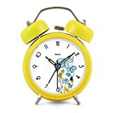 Modern Fashion Lovely Colorful Metal Alarm Clock Yellow 981