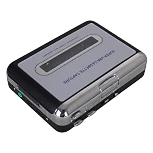 Tape to PC Super USB Cassette-to-MP3 Converter Capture Audio Music Player with Headphones