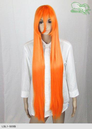 スキップウィッグ 魅せる シャープ 小顔に特化したコスプレアレンジウィッグ ラプンツェルロング ネオンオレンジ