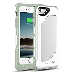 MoKo iPhone 6s / 6 Battery Case - Portable 3500mAh Brushed Protective Charger Charging Case with Removable / Rechargeable Power Cover for iPhone 6s / 6 4.7 Inch [MFI Apple Certified], WHITE