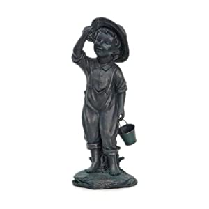 #!Cheap L World International Co Four Seasons 30509 Courtyard Boy Garden Statue, 18.5-Inch