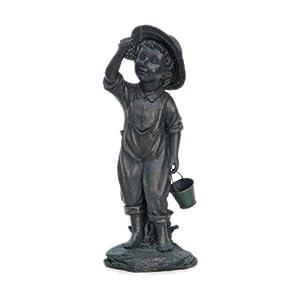 #!Cheap L World International Co Four Seasons 30509 CourtyardBoy Garden Statue, 18.5-Inch