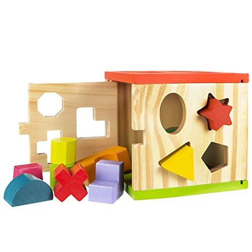 ColorBaby - Cubo actividades, de madera, 14 piezas (42139)