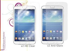 rooCASE Samsung GALAXY Tab3 8.0 SM-T3100 EZ-ON High Definition HD Screen Protector (Black Border)