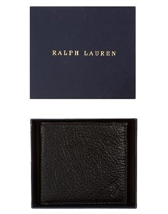 Polo Ralph Lauren Wallet Billfold Leather Black