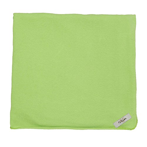 "My Blankee Organic Cotton  Jersey Knit Swaddle Baby Blanket, 47"" X 47"", Lime Green"