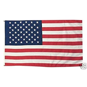 American Flag Superknit Polyester 3ft x 5ft with Grommets