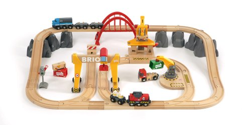 BRIO 33097 Cargo Railway Deluxe Set in Tub