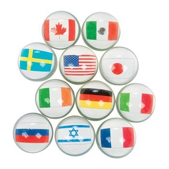 Flags Around The World Bouncing Balls - Curriculum Projects & Activities & Geography