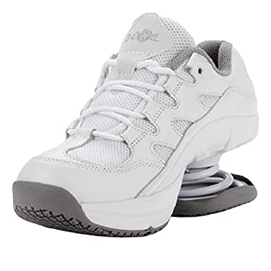 z coil s freedom slip resistant white leather tennis