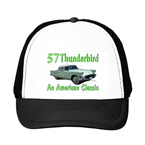 Ron And Lois'S 57 Thunderbird Trucker Hat Black Snap Back Baseball Cap (39 Fifty Hats compare prices)