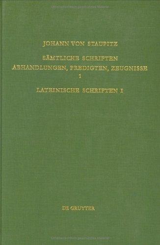 Sämtliche Schriften. Abhandlungen, Predigten, Zeugnisse / Lateinische Schriften I: Tübinger Predigten: Band 1