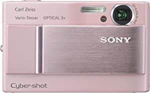 Sony Cybershot DSC-T10 7.2MP Digital Camera with 3x Optical Steady Shot Zoom (Pink)