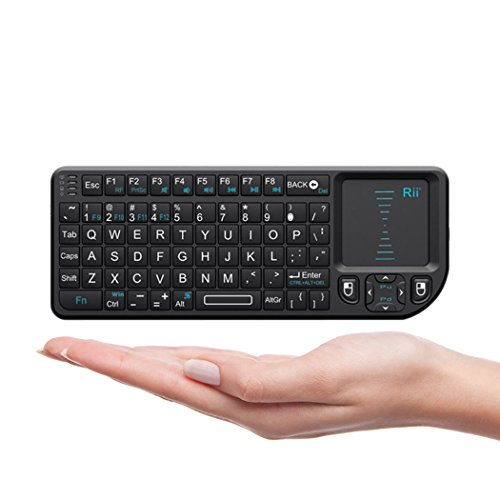 Rii Mini Wireless 2.4GHz Keyboard with Mouse Touchpad Remote Control, Black (mini X1) (Mobile Keyboard Touchpad compare prices)