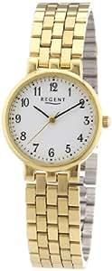 Regent Damen-Armbanduhr XS Analog Quarz Edelstahl beschichtet 12210556