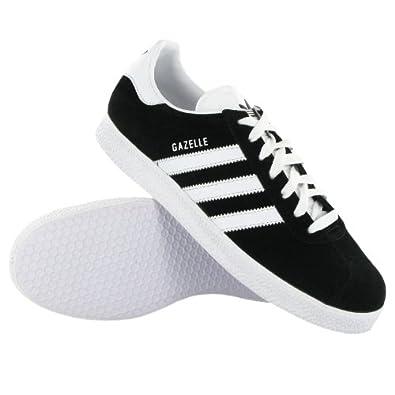 Adidas Gazelle Black White Mens Trainers Size 10.5 UK