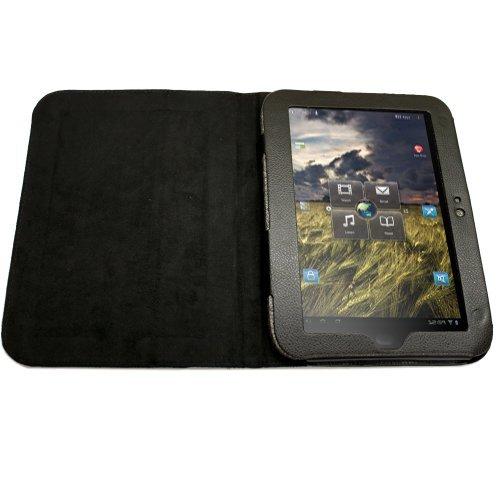 Fosmon Leather Folio Case With Stand For Lenovo Ideapad K1 10.1 (Black)