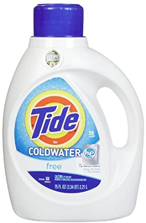 Tide HE Free for Coldwater Liquid Detergent, 39 Loads, 75 oz