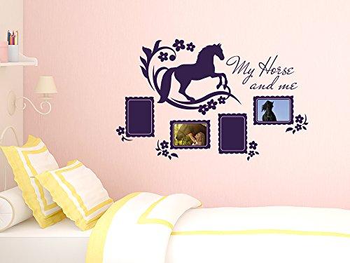 wandtattoo fotorahmen bilderrahmen pferd deko f r kinderzimmer selbstklebend 90x57cm 072. Black Bedroom Furniture Sets. Home Design Ideas