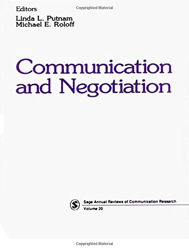 Communication and Negotiation: 20 (SAGE Series in Communication Research)