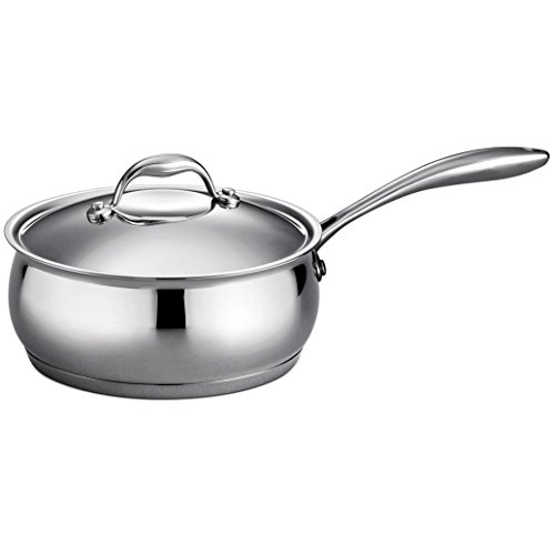 Tramontina Gourmet 3 Quart 18/10 Stainless Steel Tri-Ply Base Covered Sauce Pan