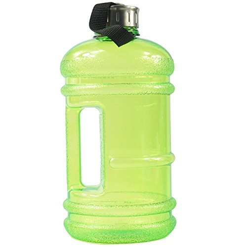BPA Free Water Bottle,Sport Watter Bottle,Camping Water Bottle 2.2 Liter (68 ounce) Anti-Slip with Strap and Special Design Side Handle -Green (Star Spin Quilt compare prices)