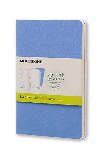 Moleskine Volant Journal Plain Pocket, Powder/Royal Blue (8051272890440)