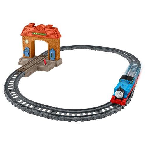 Mattel-25DFM49-Thomas-Et-Ses-Amis-Jeu-Complet-Premire-Livraison-Journe--La-Gare-Locomotive-MotoriseRails