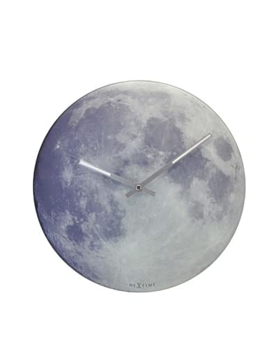 Control Brand Blue Moon Wall Clock, Blue