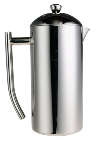 The Frieling Polished 18/10 is the best French press coffee maker around right now.