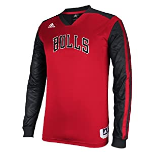 Adidas Chicago Bulls Adult On Court Long Sleeve Shooter Top by adidas
