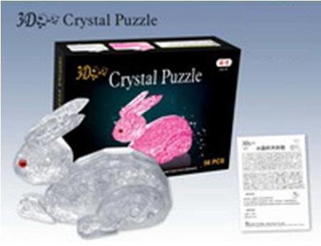Bunny Rabbit Clear 3D Crystal Jigsaw Puzzle
