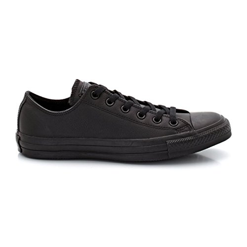 CONVERSE Unisex Chuck Taylor All Star Ox Fashion Sneaker Leather Shoe - Black Mono - Mens - 8.5